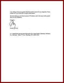 resignation letter search results for resignation letter sle effective