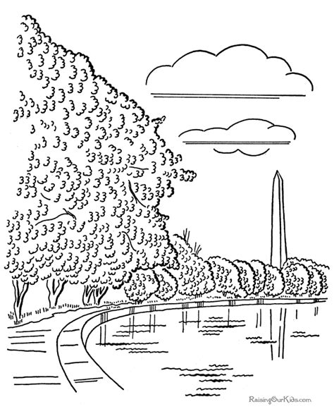 washington monument coloring page az coloring pages