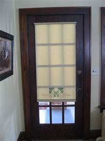 Glass Front Door Shades The Handwerk Shade Shop Studio Wisconsin