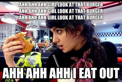 Ahh Meme - ahh ahh ahh girl look at that burger ahh ahh ahh girl look