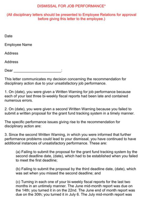 Termination Letter Format For Insubordination Employee Termination Letter For Excel Pdf And Word