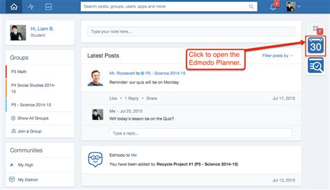 edmodo help view your edmodo planner student edmodo help center