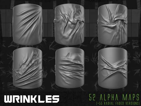 zbrush tutorial wrinkles 150 cloth alpha textures