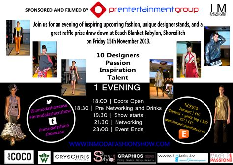 Win Tickets To The Fashion Event Of The Year by Secret Style File Win Tickets To The In Moda Fashion Show