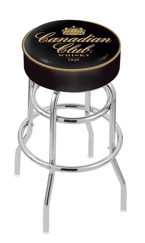Counter Height Bar Stools Canada by Canadian Club Counter Height Bar Stool W Official Jim Beam Logo Family Leisure