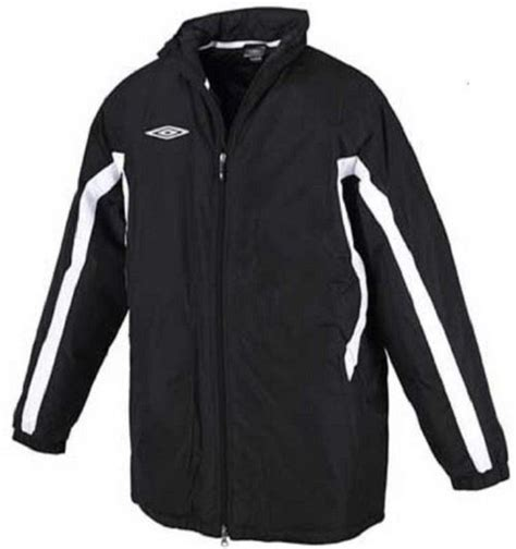 football bench coats umbro padded mens senior football coach winter sports bench coat full zip jacket ebay
