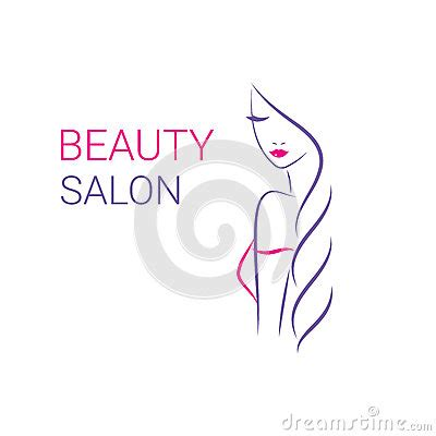Beautiful Woman Vector Logo Template For Hair Salon Stock Hair Salon Logos Templates