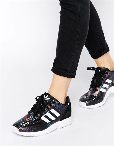 Harga Adidas Zx Flux Black Gold womens adidas zx flux black and gold