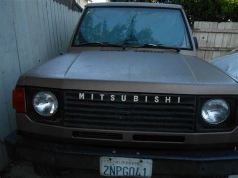 how does a cars engine work 1988 mitsubishi l300 transmission control purchase used 1988 mitsubishi montero 4wd 2 6l engine automatic in long beach california