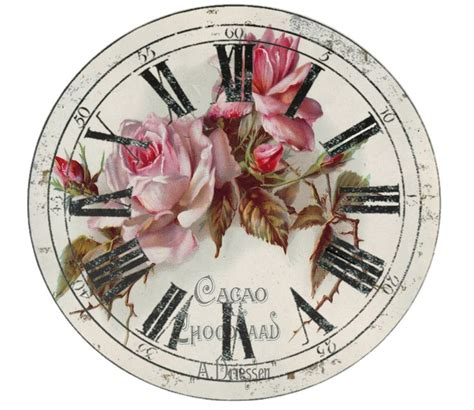 Decoupage Clock - 247 best images about free printable clock on
