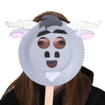 printable ram mask paper plate goat mask school crafts pinterest goat