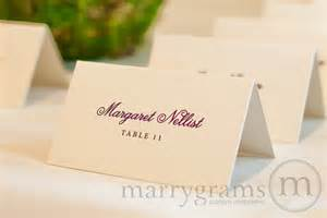 scripty wedding place cards for reception simple by marrygrams