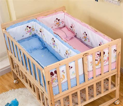 bed for twins baby aliexpress com buy twins baby cots solid wood lacquered
