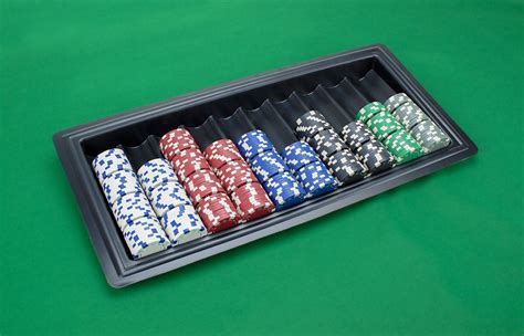 row plastic casino dealer chip tray