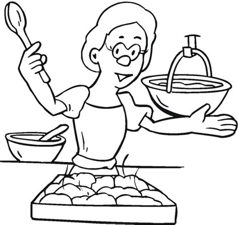 Cooking Colouring Pages Www Imgkid Com The Image Kid Cooking Coloring Page