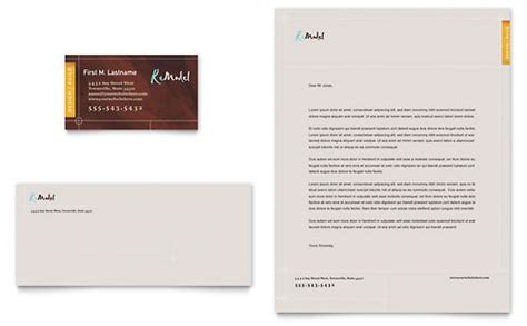 construction business card template word construction letterhead templates word publisher