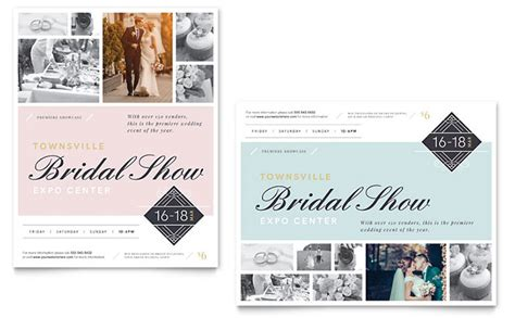 templates for posters in publisher bridal show poster template word publisher