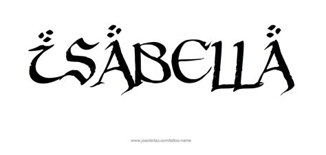 isabella tattoo name designs