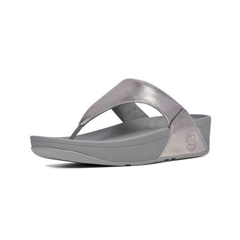 wobble board sandals fitflop fitflop lulu toe post sandal in soft pewter