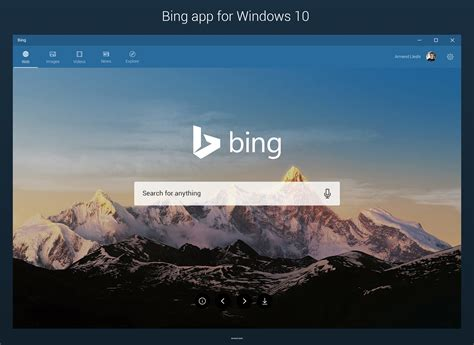 bing pictures windows 10 images bing app for windows 10 concept by armend07 on deviantart