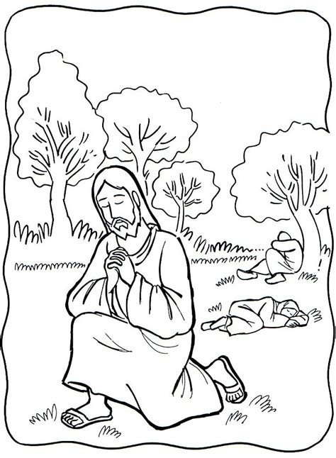 jesus praying in the garden of gethsemane clipart