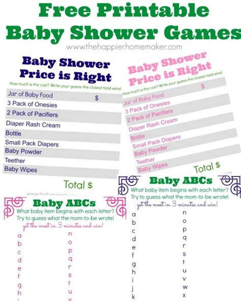 free printable price is right baby shower template 22 free baby shower to play tip junkie