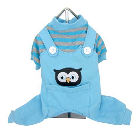 Overall Owl animal overalls pajamas owl blue with same day
