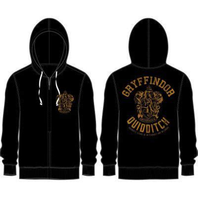 Harry Potter Sweater Black harry potter gryffindor quidditch hooded sweater black