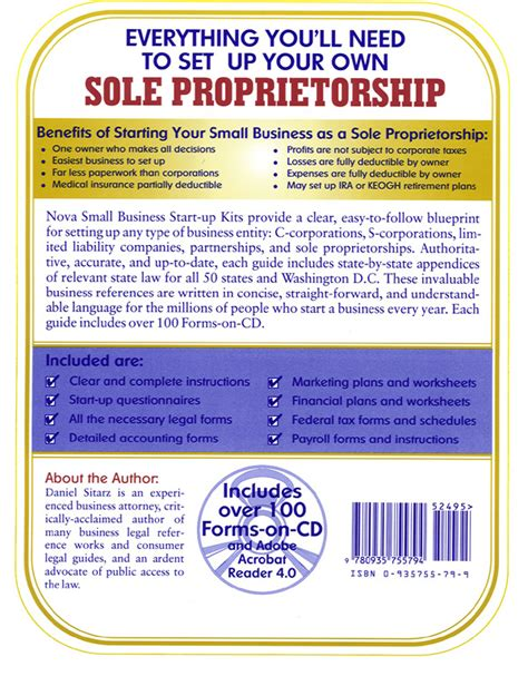 Total Price 15 95 Sole Proprietorship Business Plan Template