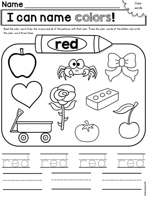 coloring pages colors preschool 67 best colors preschool style images on pinterest