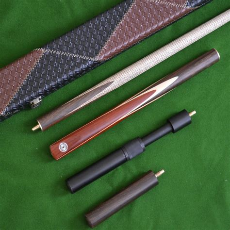 Handmade Snooker Cue - handmade 4 snooker cue set with leather