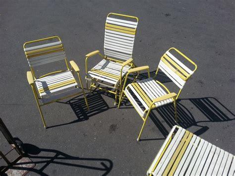 Vinyl Straps For Patio Chairs Vintage 60s 70s Metal Vinyl Patio Lawn Chair Lounge Set Freeway Vinyls Metals And Vintage