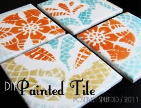 ceramic tiles for crafts diy painted ceramic tile tutorial positively splendid