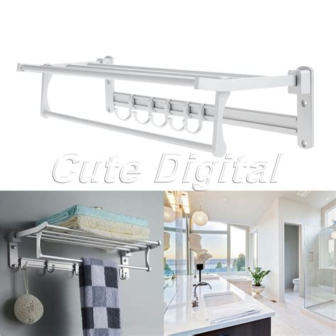 wall towel holders bathrooms wholesale aluminum wall mounted bathroom towel shelf