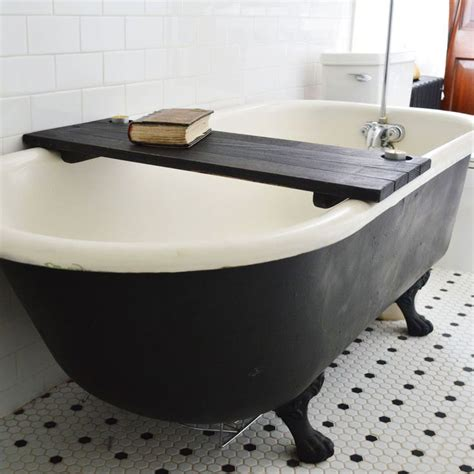 clawfoot bathtub caddy wooden tub caddy in black