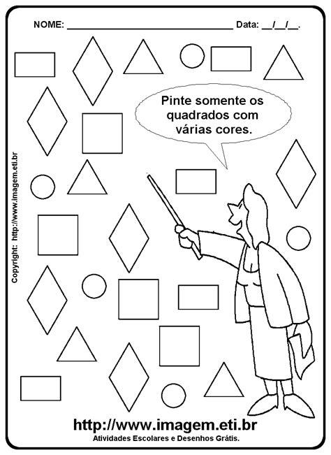 figuras geometricas quadrado figuras geom 201 tricas quadrado atividade escolar para