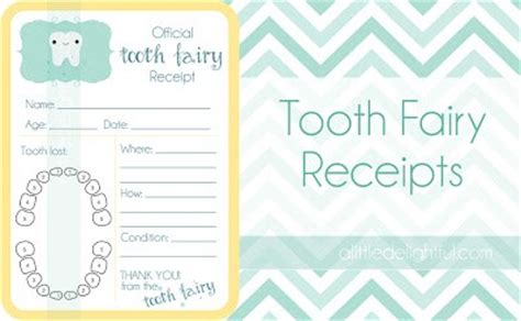 tooth receipt template free printable tooth receipts several to choose