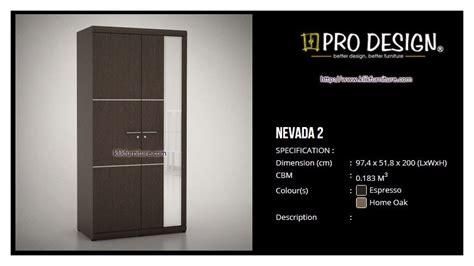 Hawaii Pro Design Lemari Pakaian 4 Pintu Minimalis lemari 2 pintu minimalis pro design nevada 2