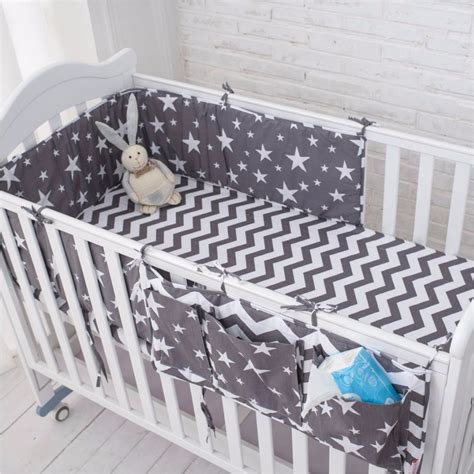 Do You Need A Bumper For A Crib by Muslinlife Grey Bedding Set Multi Functional Baby