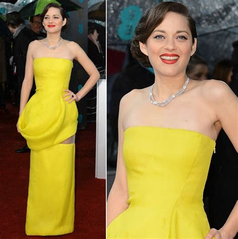 Marion Cotillards Oscar Dress From Runway To Carpet by Marion Cotillard In Haute Couture The 2013 Bafta