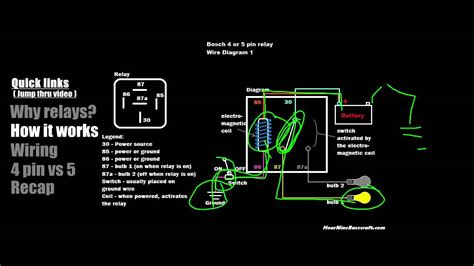 relay tutorial 5 pin vs 4 pin wiring exle 1