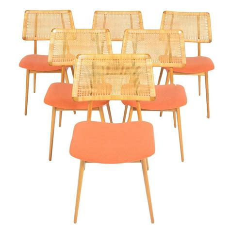 Caned Dining Chairs Set Of Six Caned Back Dining Chairs By Habeo At 1stdibs