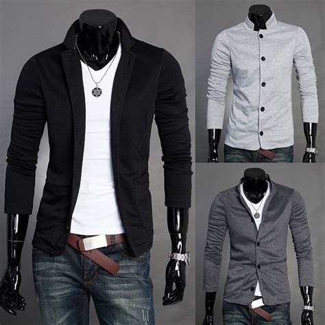design jaket casual ks003 fashion style men s mandarin collar casual knitwear