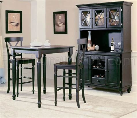 black dining room hutch dining room sets with hutch black modern 5pc pub dinette