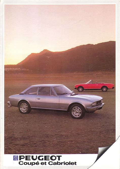 peugeot 504 coupe pininfarina peugeot 504 coup 233 pininfarina 1983 brochure the marquis