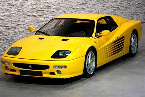 ferrari yellow and two special and very yellow ferrari testarossas are