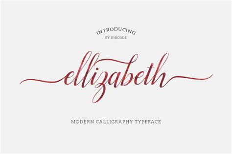 Wedding Font With Tails by Elizabeth Script Font Befonts