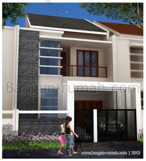 Enka 105 X 1 2 X 16 Batu Potong 4 desain rumah 2 lantai di lahan 7 x 15 m2 desain rumah