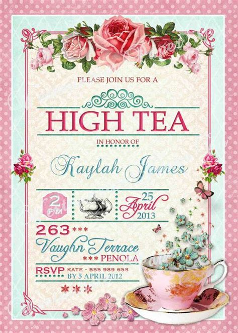 25 best ideas about high tea invitations on