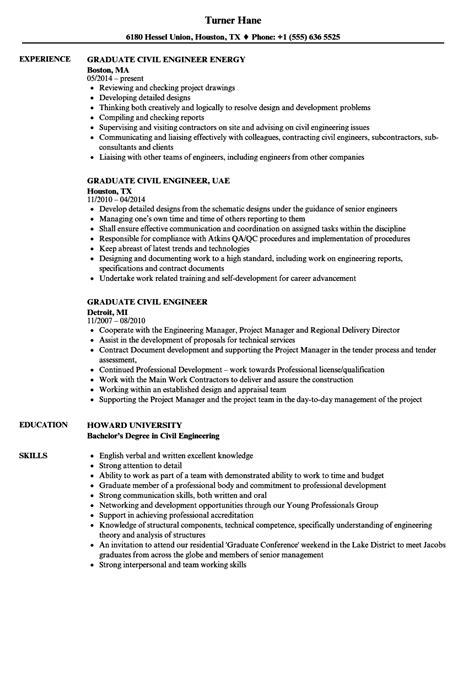 graduate civil engineer resume sles velvet